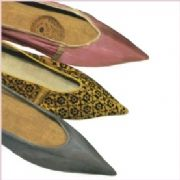 Womens Leather Shoes Greeting Card